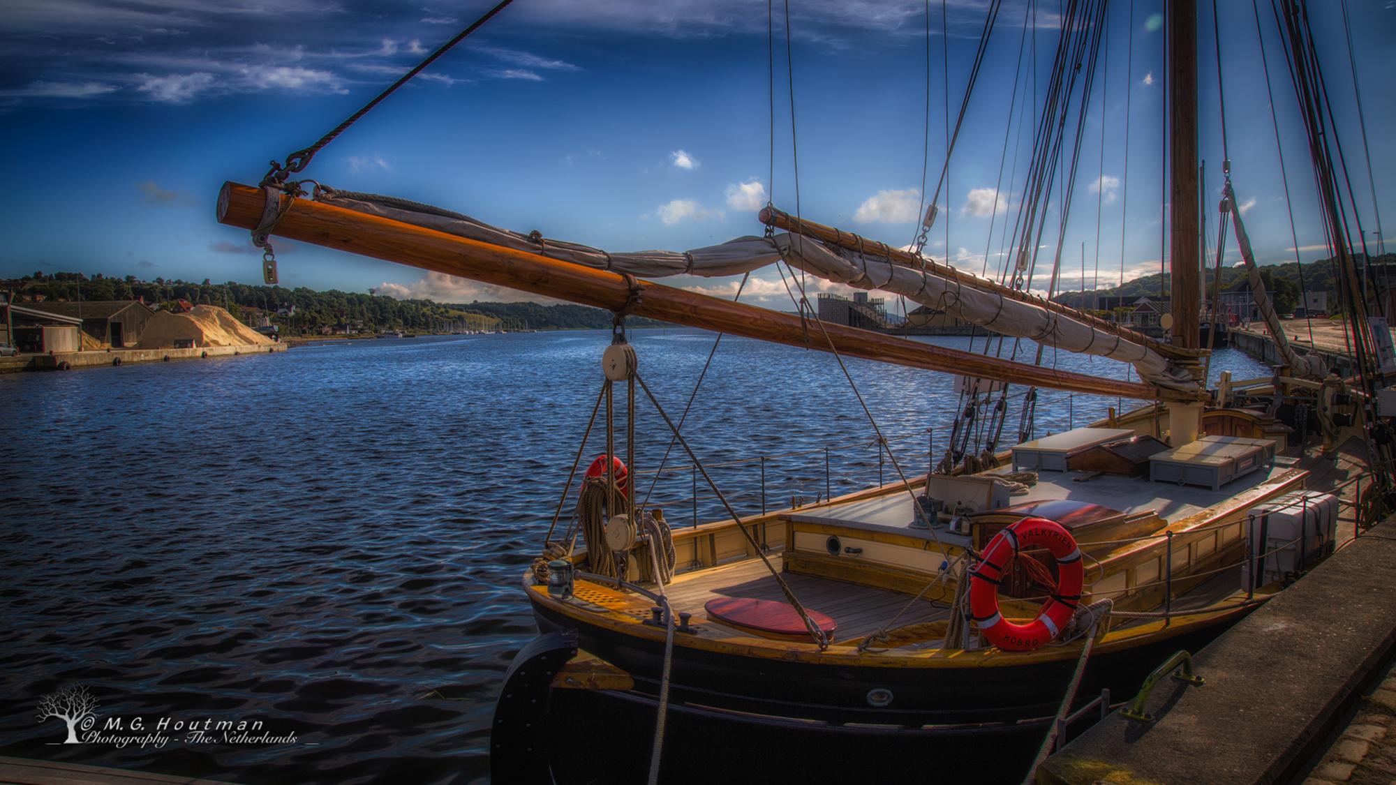 Schip in Hobro - Noord-Jutland