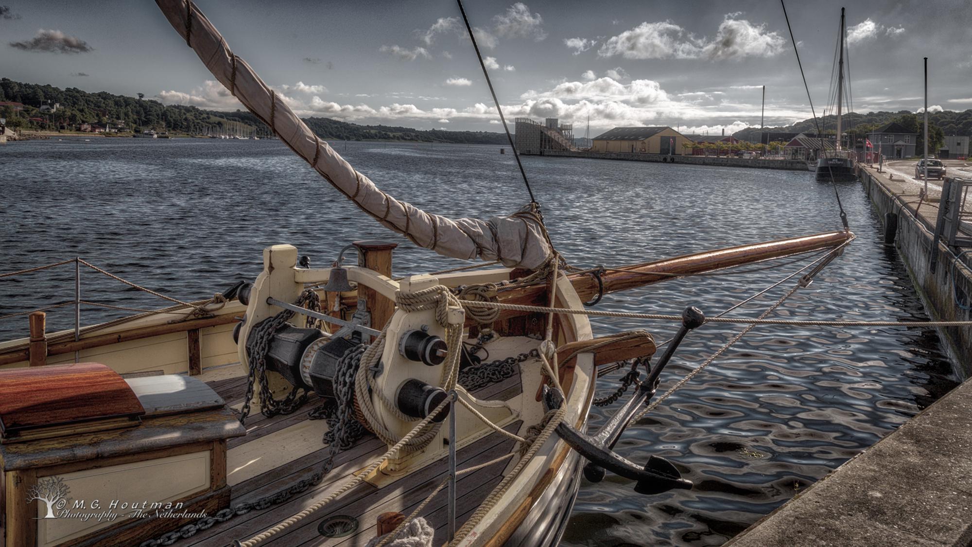 Schip in Hobro - Noord-Jutland - Denemarken