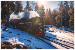 Steamtrain in the snow