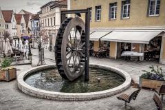 waterrad in de Gerberstrasse, Kempten - Bayern