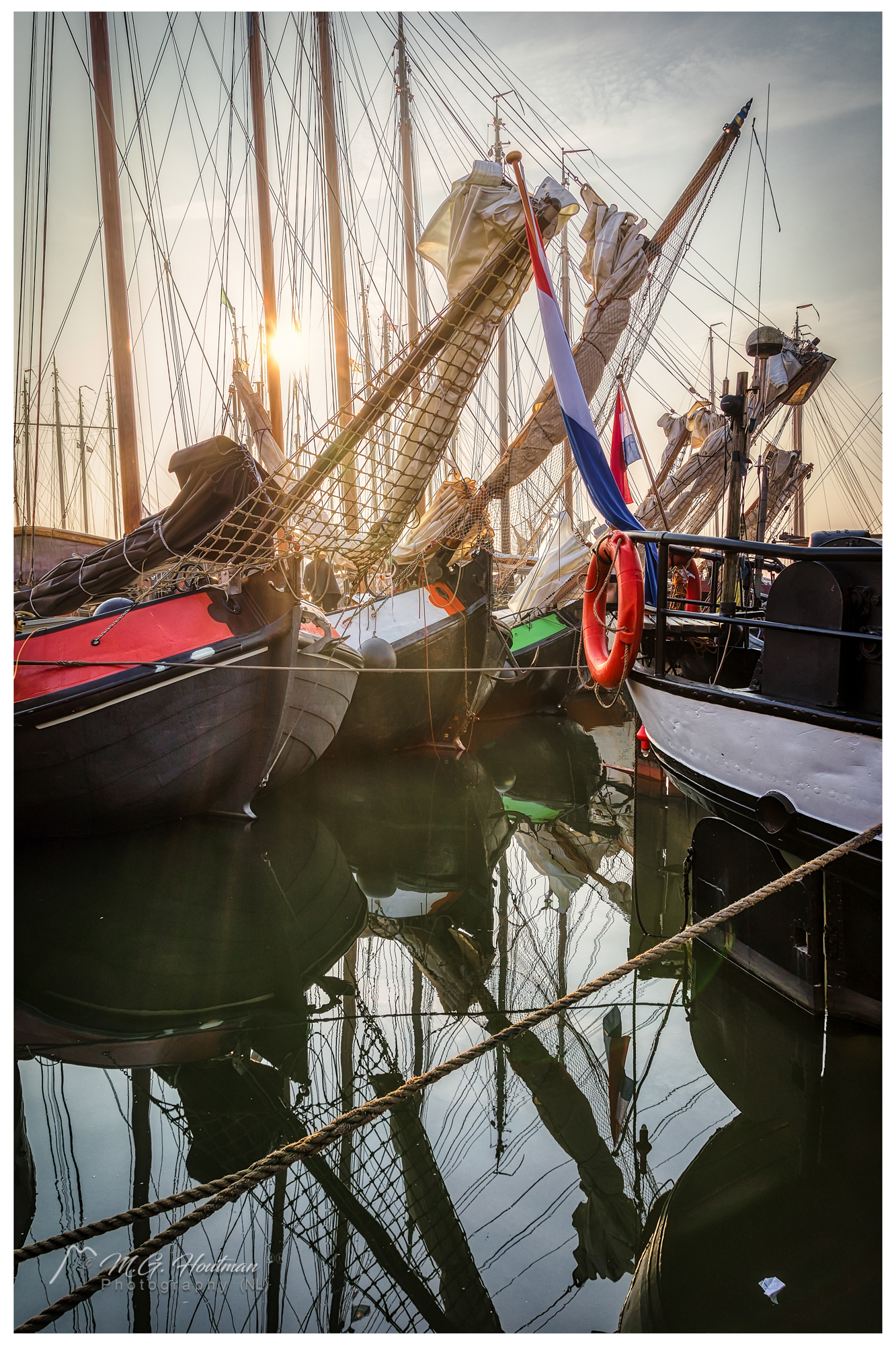 Some boats of the Pieperrace - Volendam