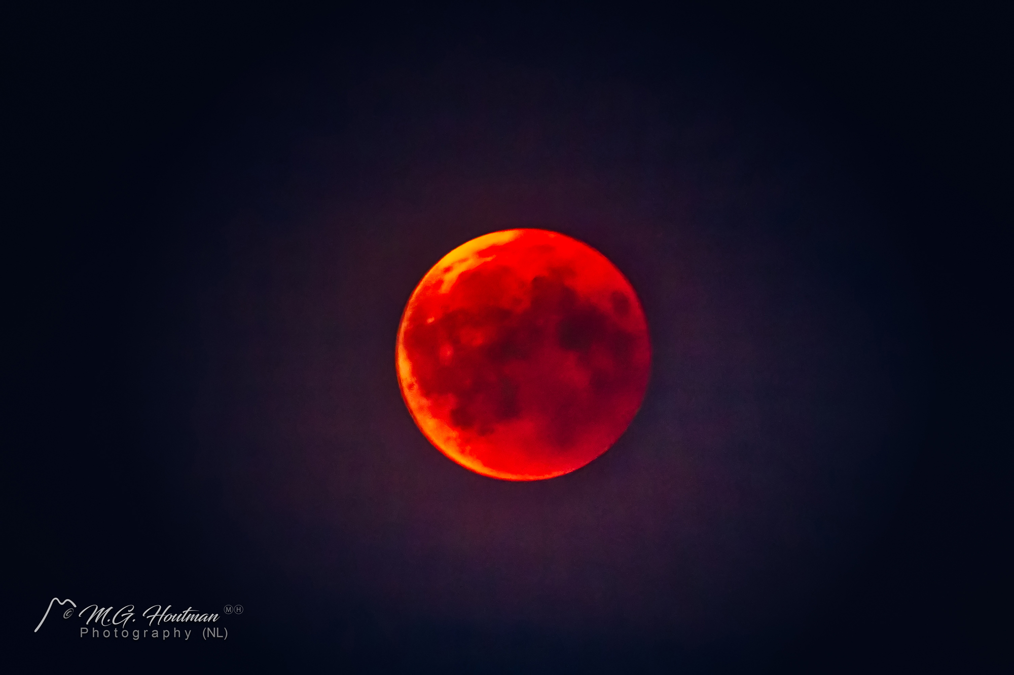 Just after the total lunar eclipse - 27 July 2018