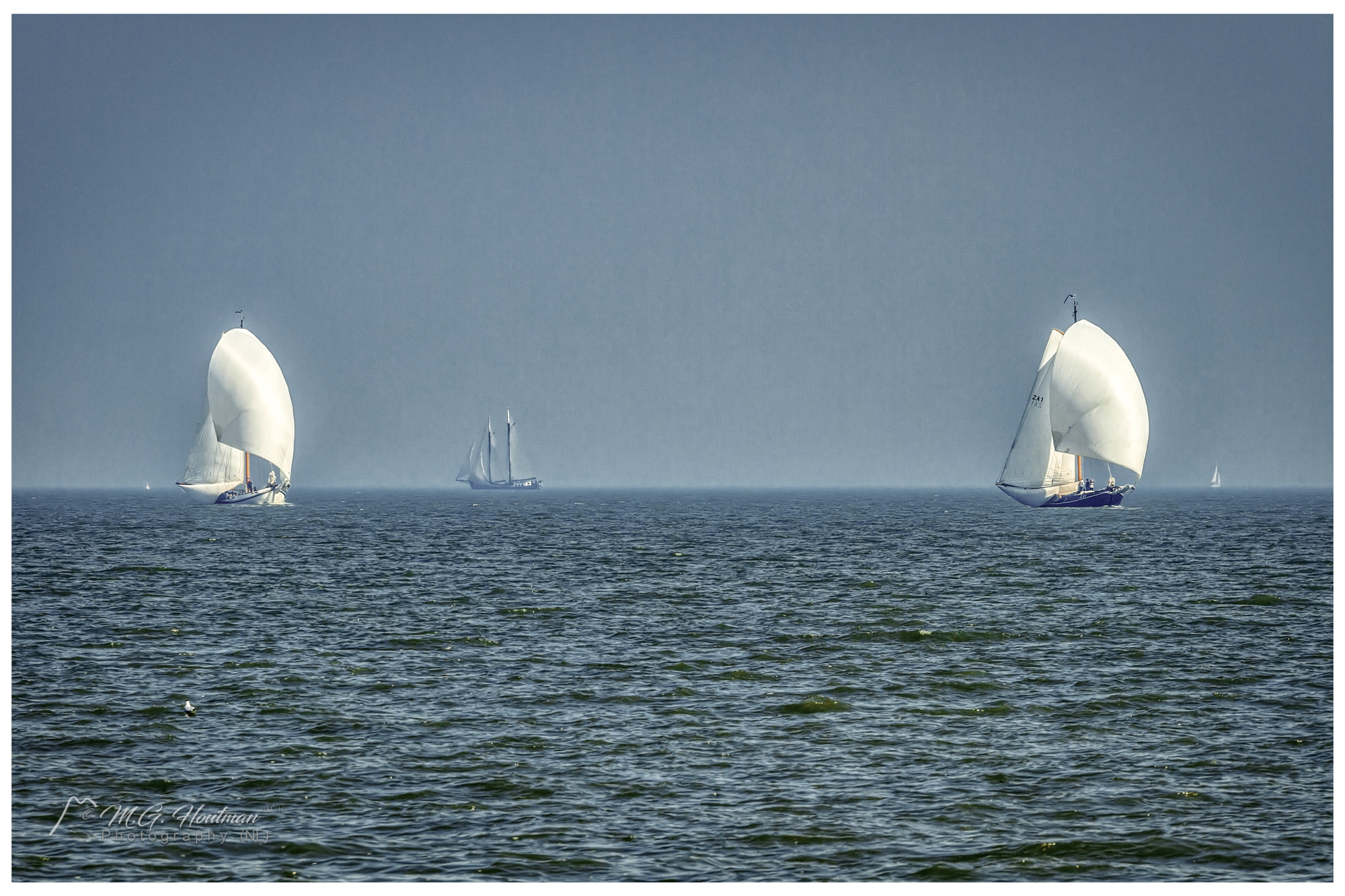 Sailing in a race