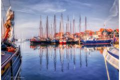 Boats in Volendam-harbor