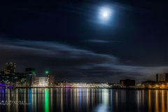 Rotterdam under the moon