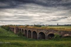 Die historische Eisenbahnbrücke Wesel