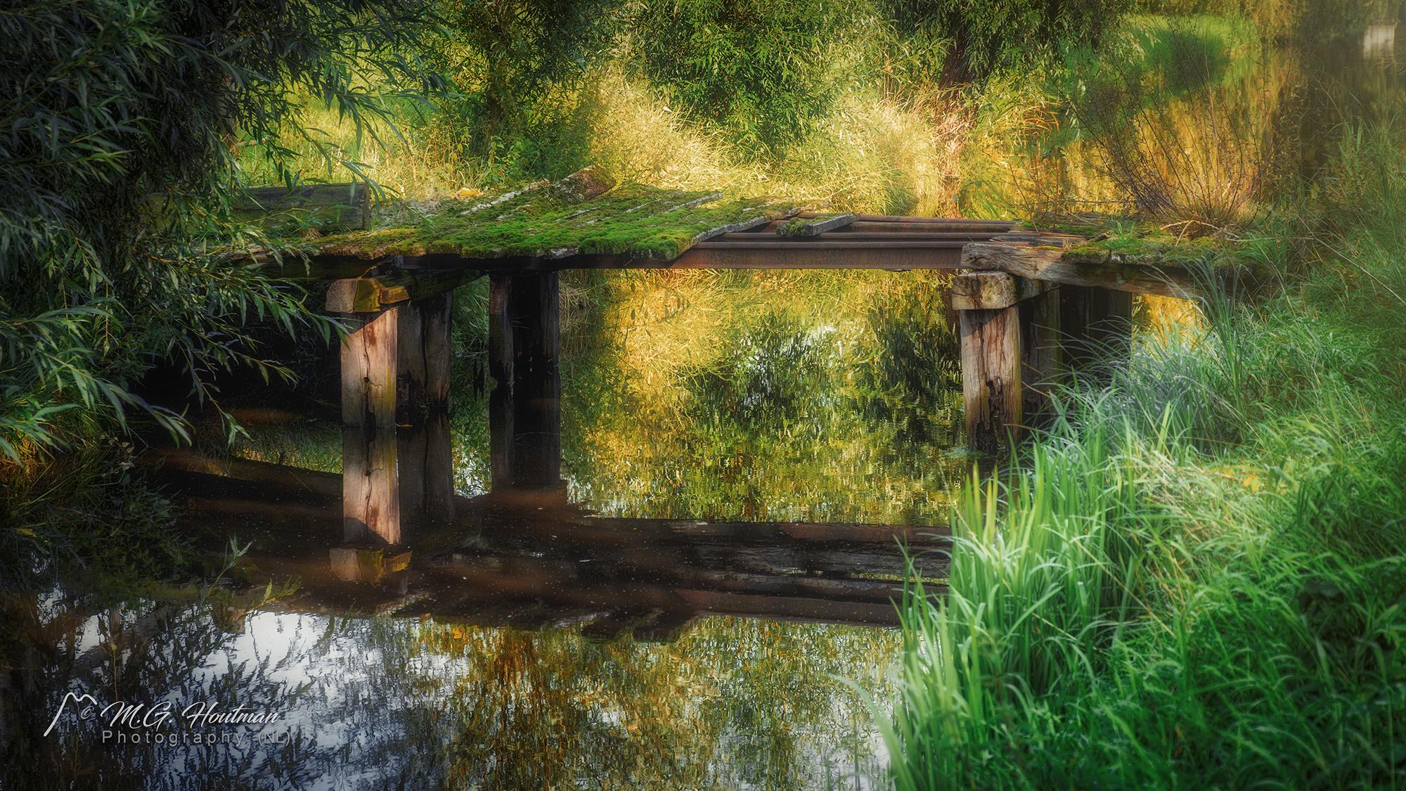 Oude brug aan de rand van Wijk