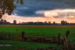 Skyline van de oude stad Wijk