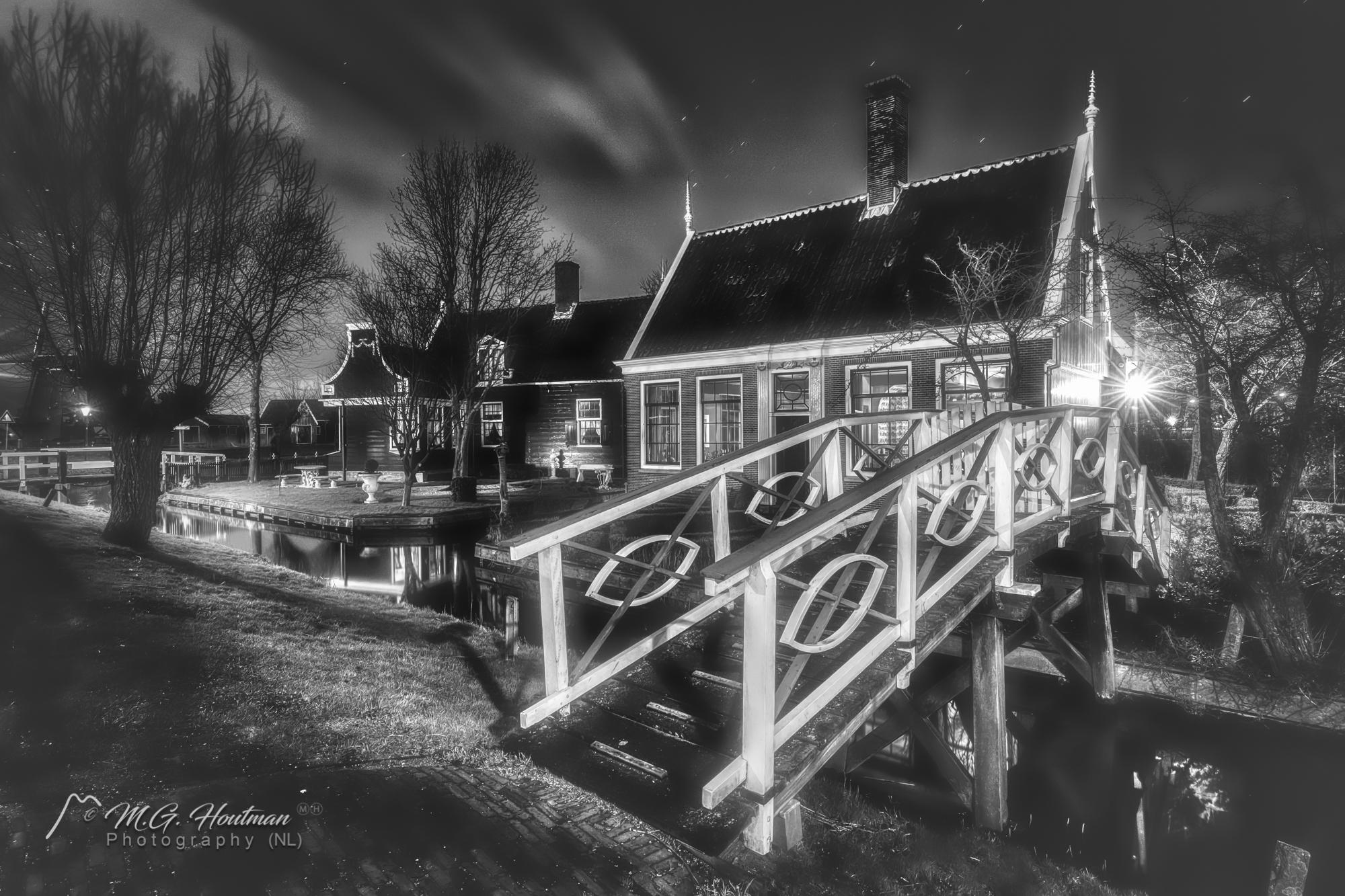 Zaanse Schans @ Night - B/W (NL)