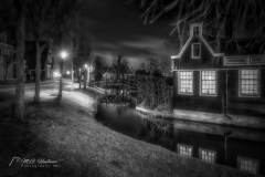 Zaanse Schans @ Night - B/W (NL)